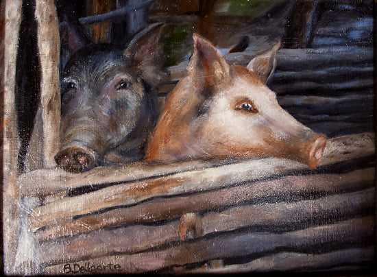 Belize Long - Snout Pigs by Barbara DeUgarte