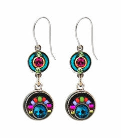 Multi Color Double Circle Earrings by Firefly by Firefly Jewelry