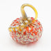 Handblown Glass Pumpkin in Orange with Dots