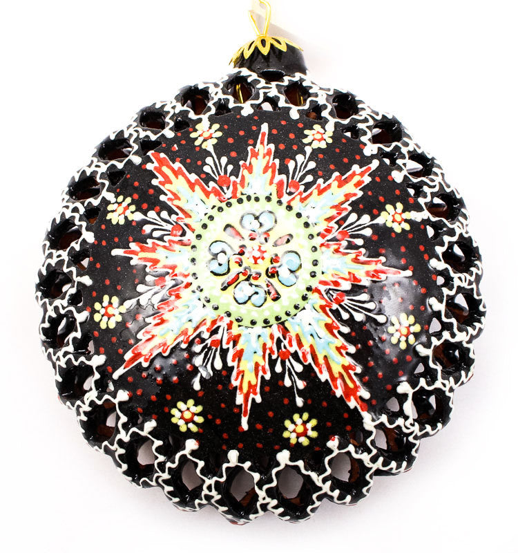 Crimson Star Large Cut Out Ceramic Ornament