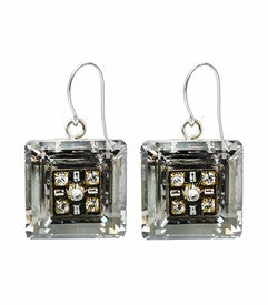 Silver La Dolce Vita Square Earrings by Firefly Jewelry