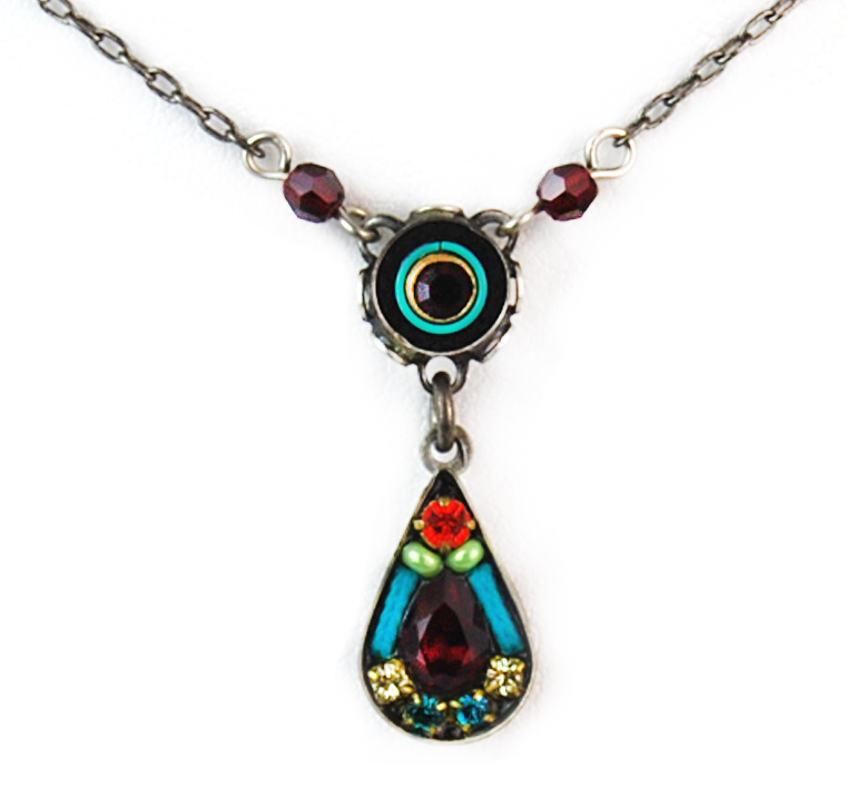 Multi Color Love Drop Necklace by Firefly Jewelry