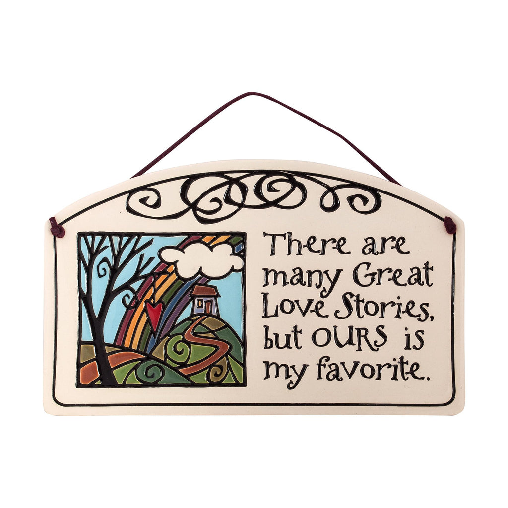Love Stories Large Arch Ceramic Tile