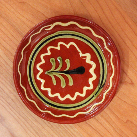 Redware Coaster with Tree