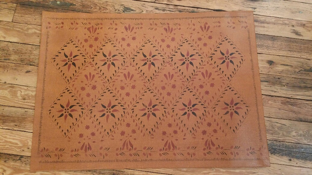 "Wayside Inn Floorcloth in Antique- Size 24"" x 36"""