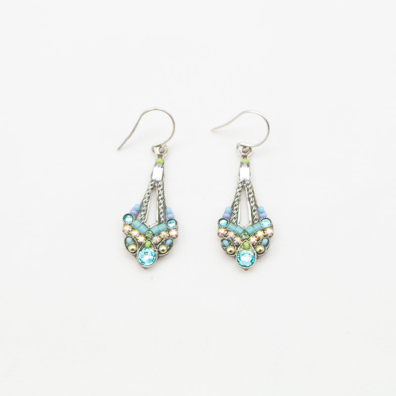 Light Turquoise Parisian Earrings by Firefly Jewelry