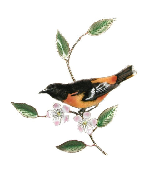 Baltimore Oriole on Apple Blossom Wall Art by Bovano Cheshire