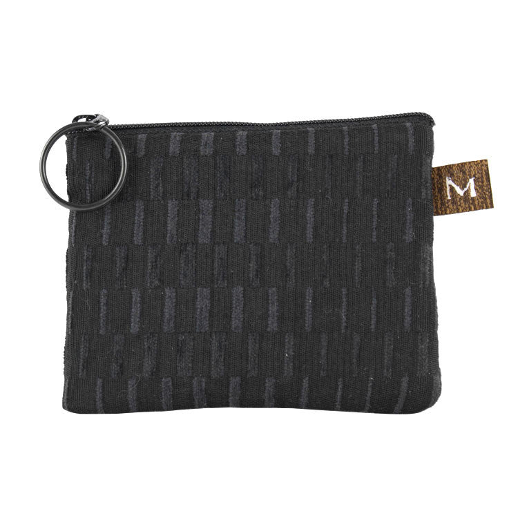 Maruca Coin Purse in Basket Black