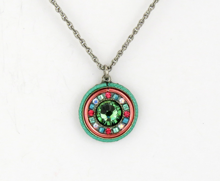 Erinite La Docle Vita Round Pendant by Firefly Jewelry