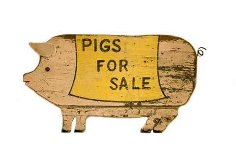 Pigs for Sale (Pig Shape) Americana Art
