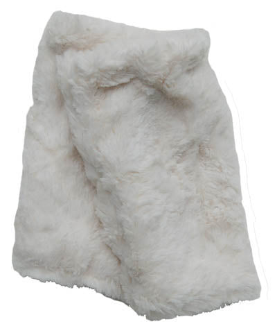 Ivory Luxury Faux Fur Fingerless Gloves