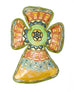 Esperanza Medallion Small Cross Ceramic Wall Art