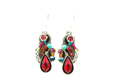 Red Lily Organic Earrings by Firefly Jewelry