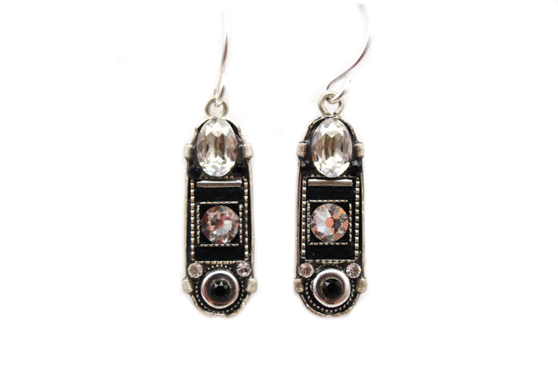 Black and White La Dolce Vita Oval with Hope and Dream Earrings by Firefly Jewelry