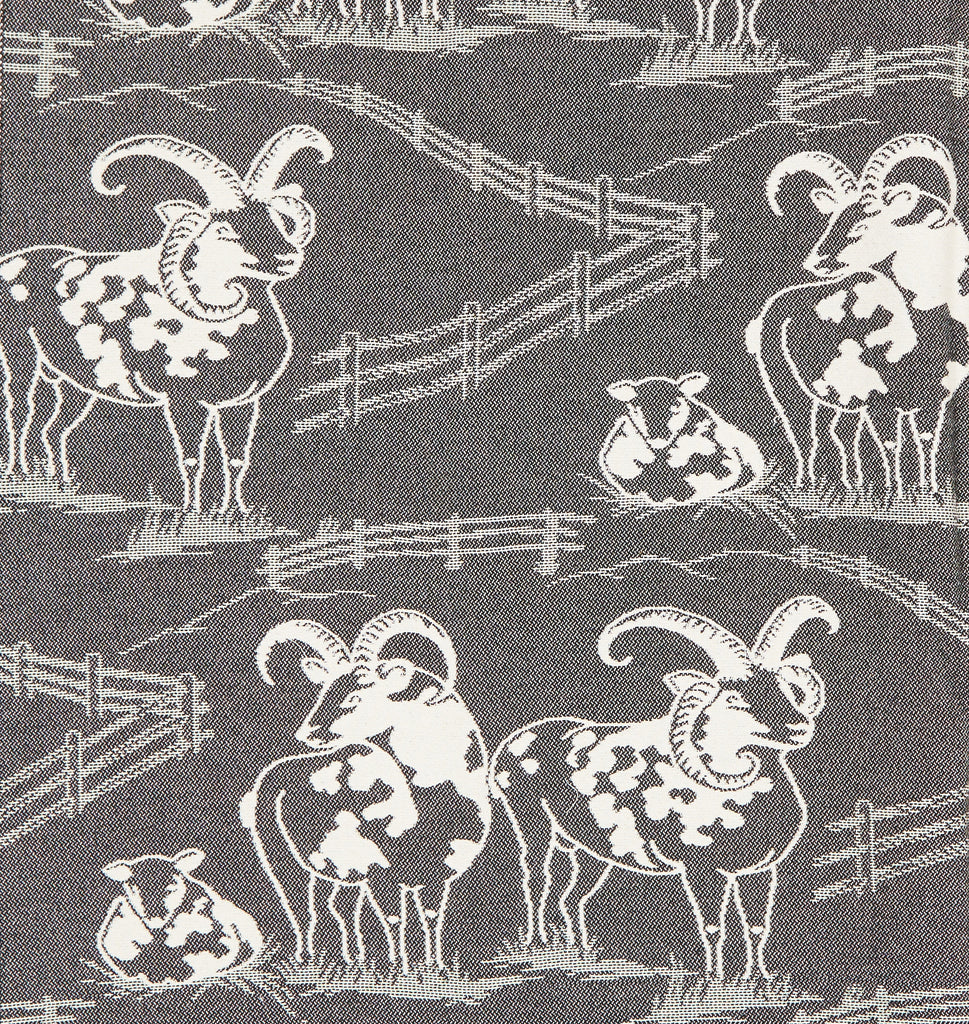 Jacob's Sheep Throw in Black and White
