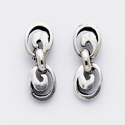 Multi Swirl Post Earrings