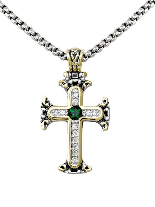 Celebration Collection Pave Cross with Chain by John Medeiros