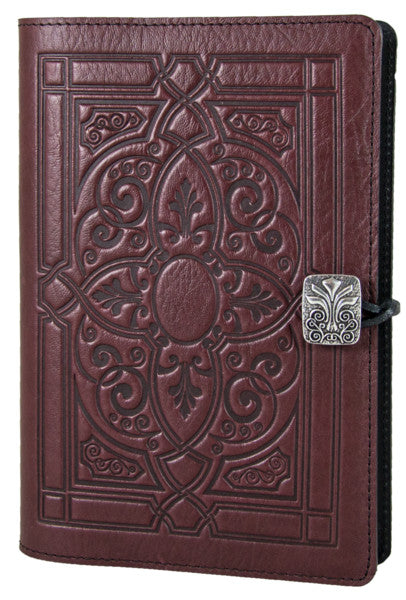 Small Leather Journal - Florentine in Wine