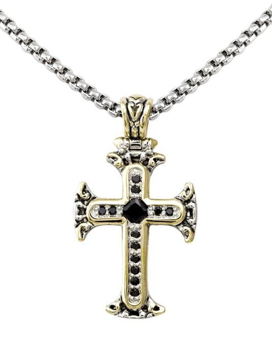 Celebration Collection Pave Cross with Chain by John Medeiros - Available in Multiple Colors