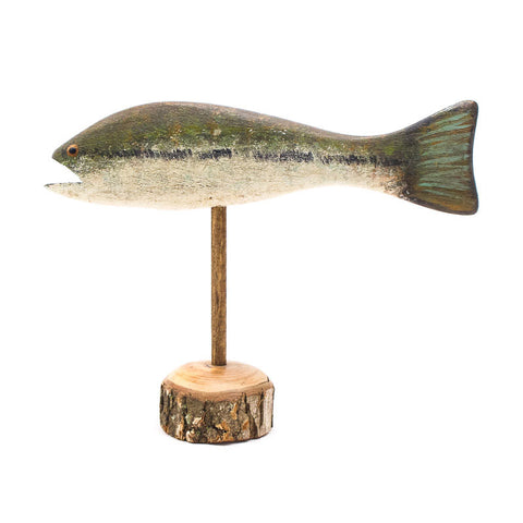 Striped Bass Small Pedestal by Chris Boone