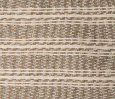 Acadian Stripe Runner in Stone and White