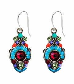 Multi Color Petite Drop Earrings by Firefly Jewelry