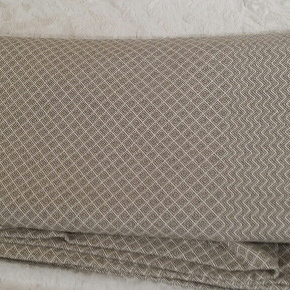 Diamonds and Chevron Queen Coverlet in Olive