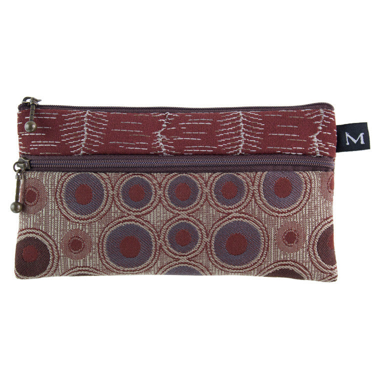 Maruca Heidi Wallet in Embossed Raisin