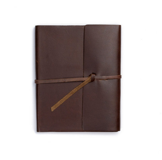 Leather Writers Log with Dot-Grid Paper - Available in Multiple Colors