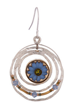 Blue Crop Circle Earrings by Wanna Buy A Watch?