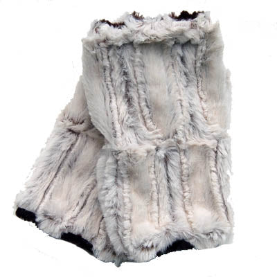 Porcelain Luxury Faux Fur Fingerless Gloves