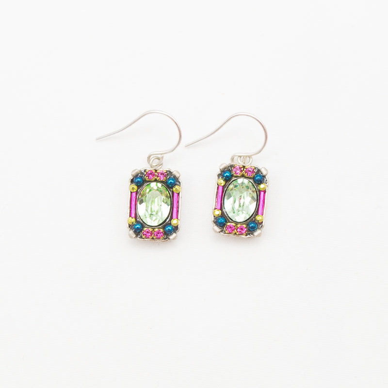 Chrysolite Petite Crystal Earrings by Firefly Jewelry