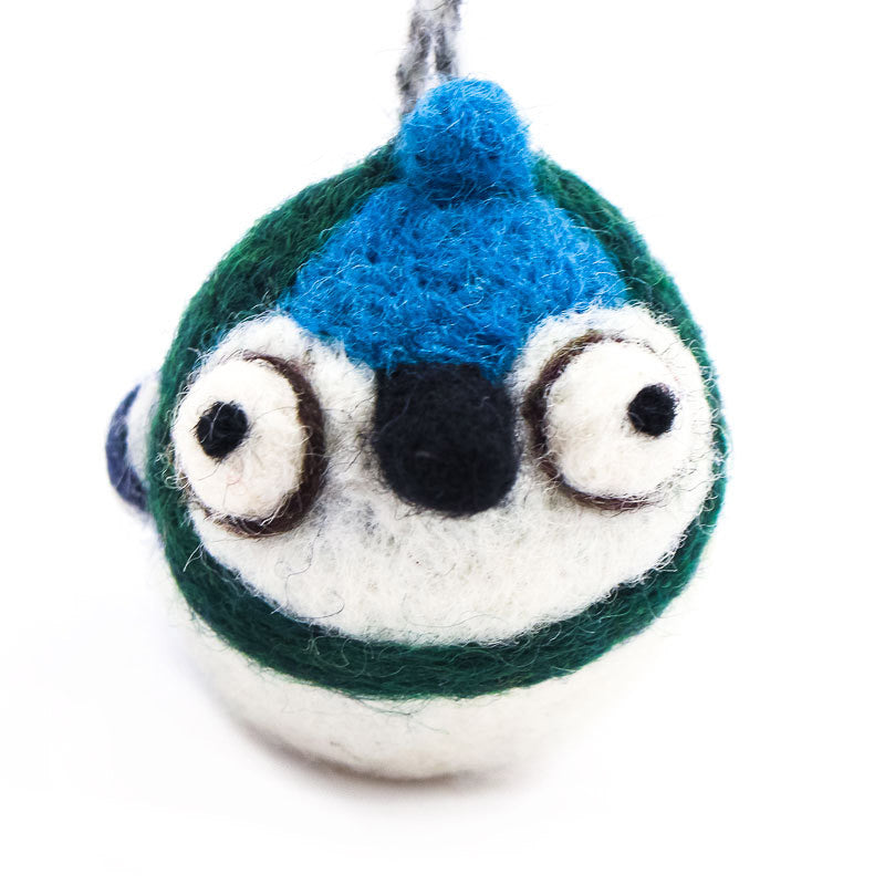 Blue Jay Woolie Ornament