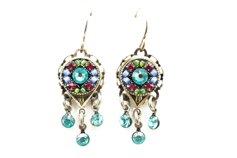 Light Turquoise Isabella Brilliant Drop Earrings by Firefly Jewelry