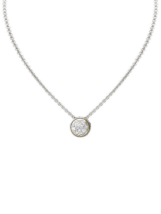 Lanna Solitaire Pave Necklace by John Medeiros
