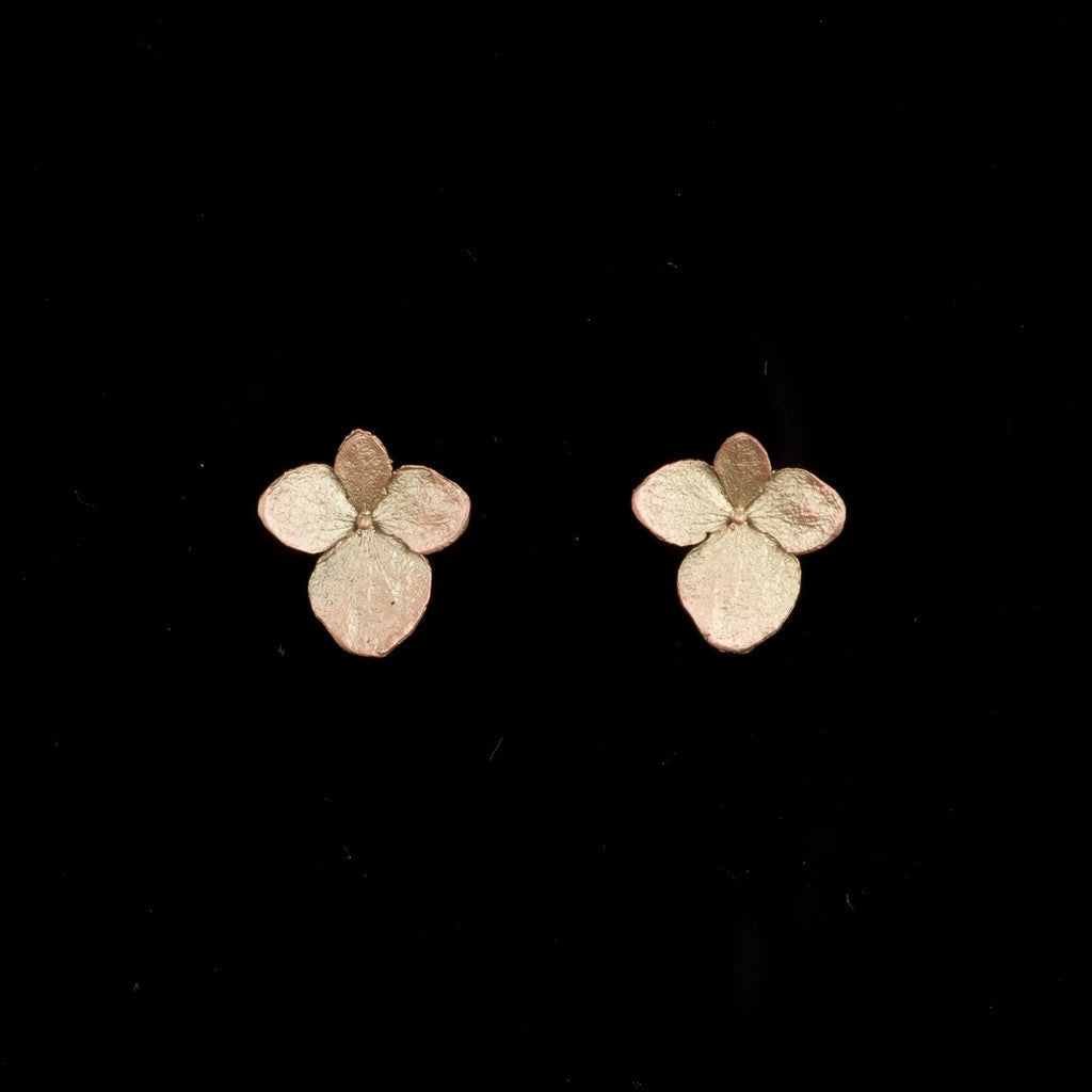 Hydrangea Post Earrings