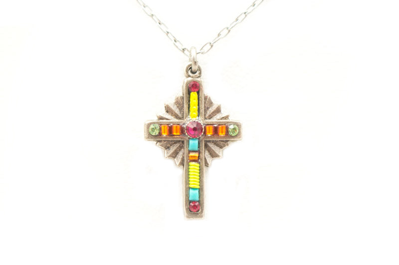 Tangerine Petite Cross by Firefly Jewelry