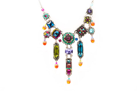 Multi Color Petite Dolce Vita Elaborate Necklace by Firefly Jewelry