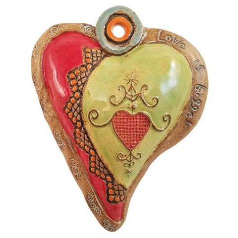 Hearts for Haiti Raw Rim Ceramic Wall Art