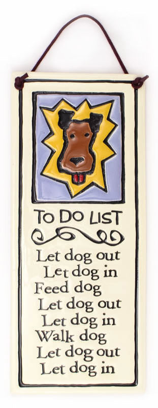 To Do List Large Tall Ceramic Tile