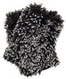 Silver Tipped Fox in Black Luxury Faux Fur Fingerless Gloves