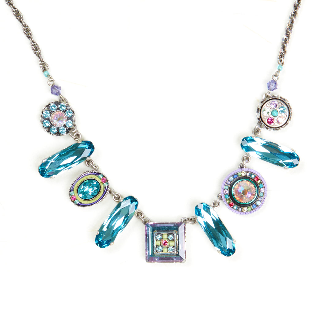 Soft La Dolce Vita Oblong Crystal Necklace by Firefly Jewelry