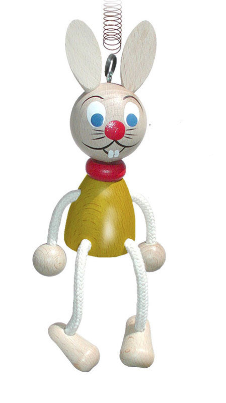 Funny Rabbit Handcrafted Wooden Jumpie