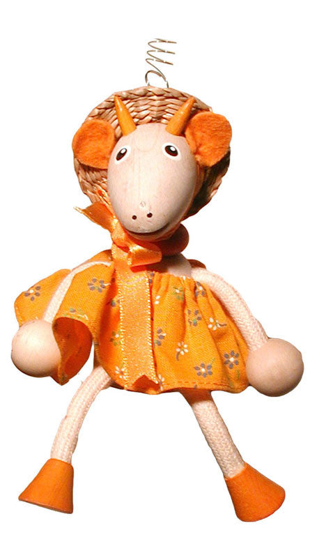 Goat Girl With Horns Handcrafted Wooden Jumpie