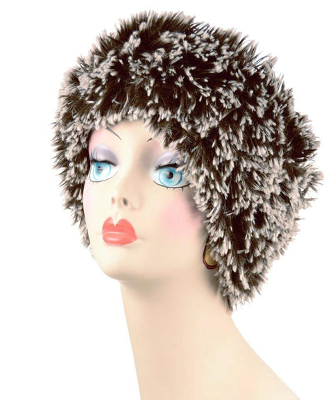 Silver Tipped Fox in Brown Luxury Faux Fur Headband