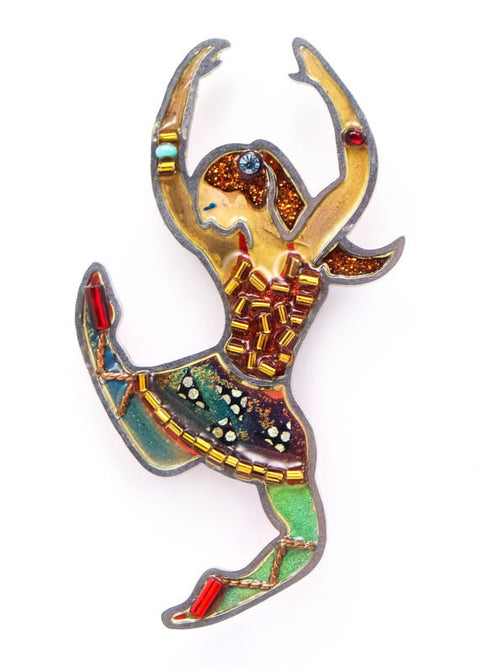 Leaping Ballerina Ballet Dancer Pin