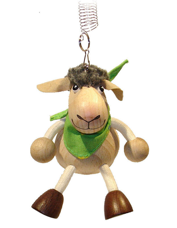 Lamb Boy Handcrafted Wooden Jumpie