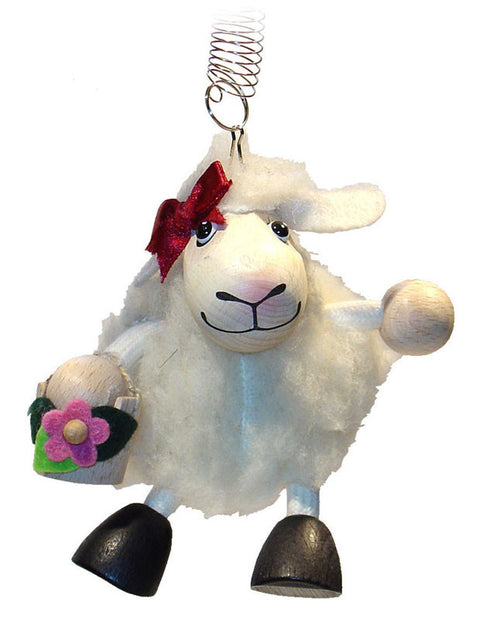 Lambgirl White Handcrafted Wooden Jumpie
