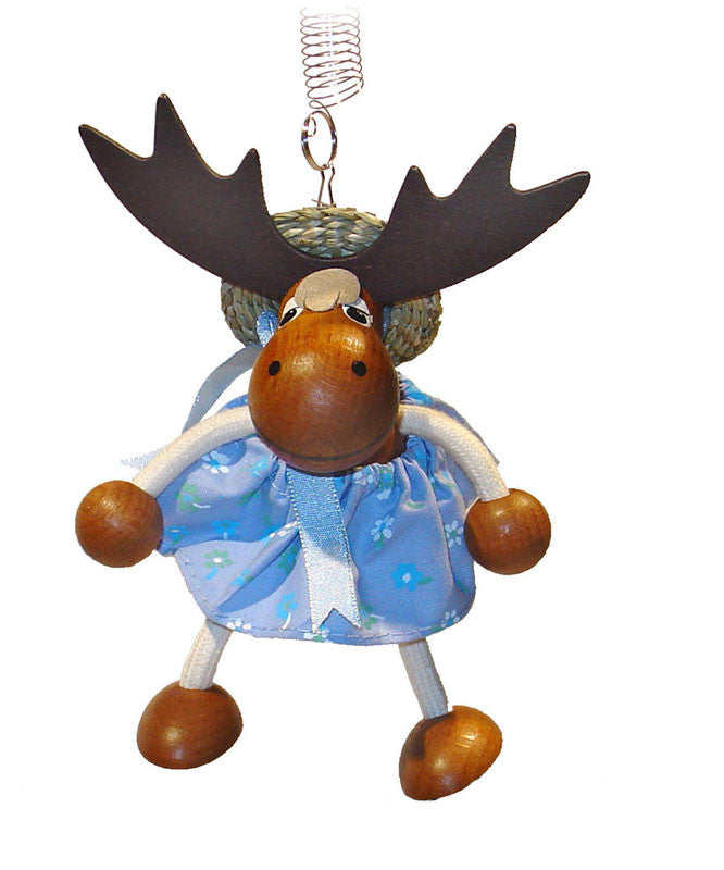 Moose Girl Handcrafted Wooden Jumpie