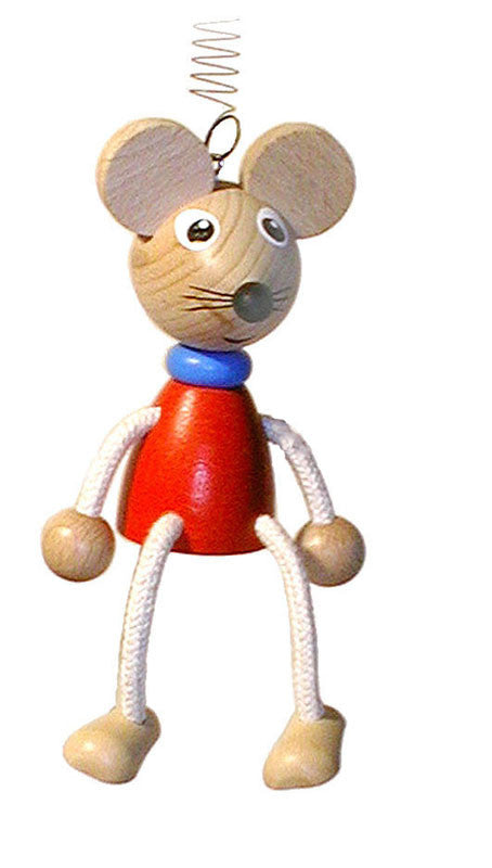 Mouse Handcrafted Wooden Jumpie